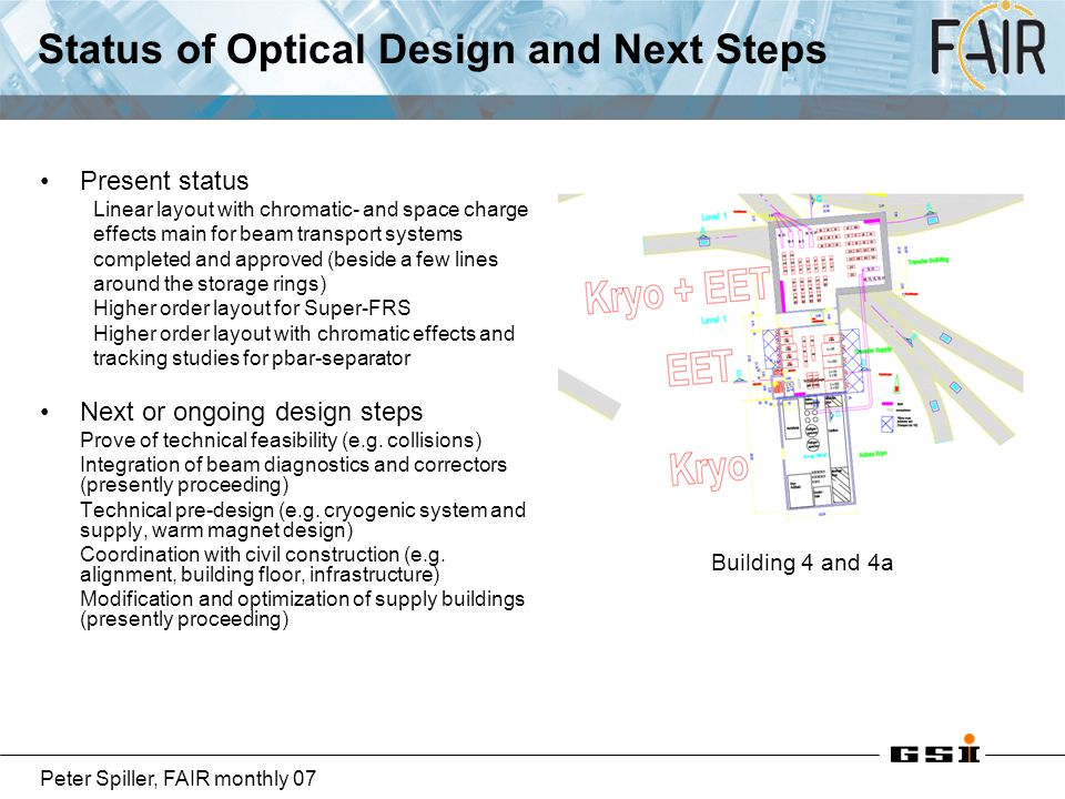 Status of Optical Design and Next Steps