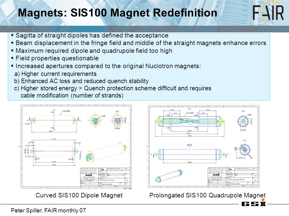 Magnets: SIS100 Magnet Redefinition