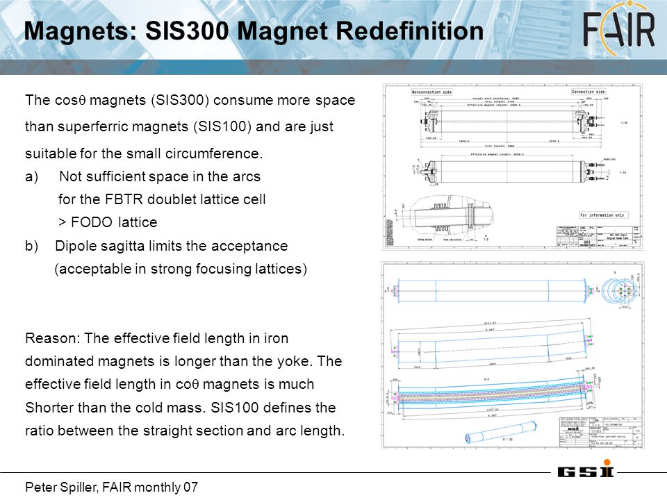 Magnets: SIS300 Magnet Redefinition
