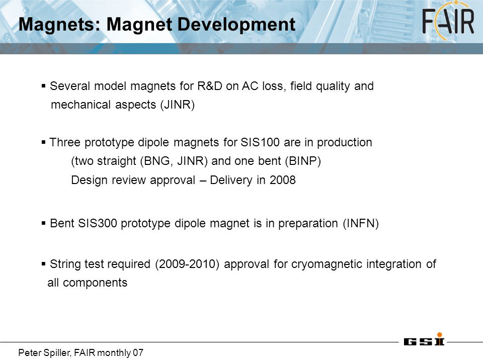 Magnets: Magnet Development
