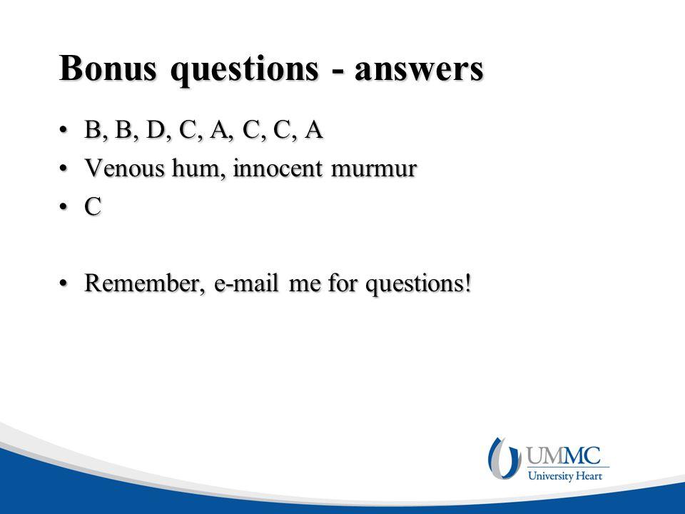 Bonus questions - answers
