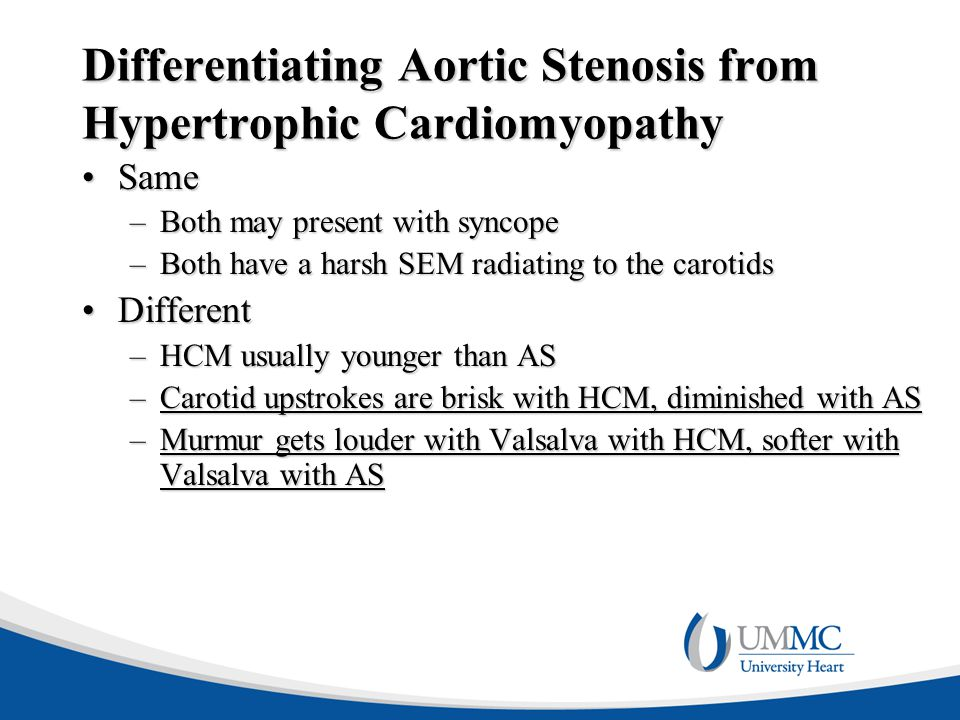 Differentiating Aortic Stenosis from Hypertrophic Cardiomyopathy