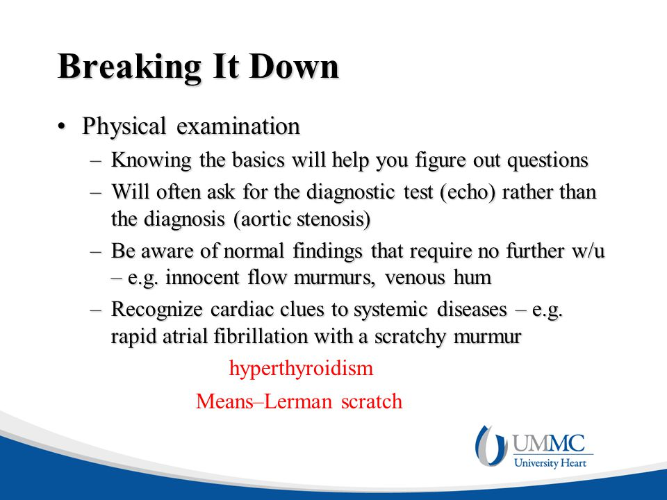 Breaking It Down Physical examination