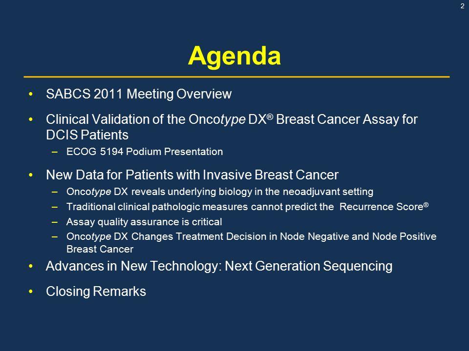 Agenda SABCS 2011 Meeting Overview