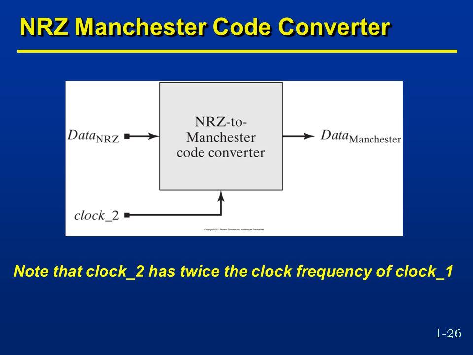 NRZ Manchester Code Converter