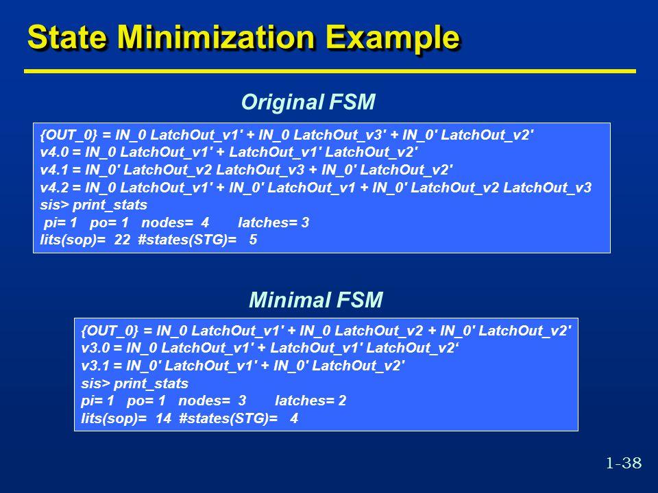 State Minimization Example
