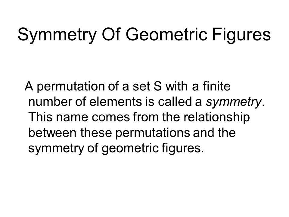 Symmetry Of Geometric Figures