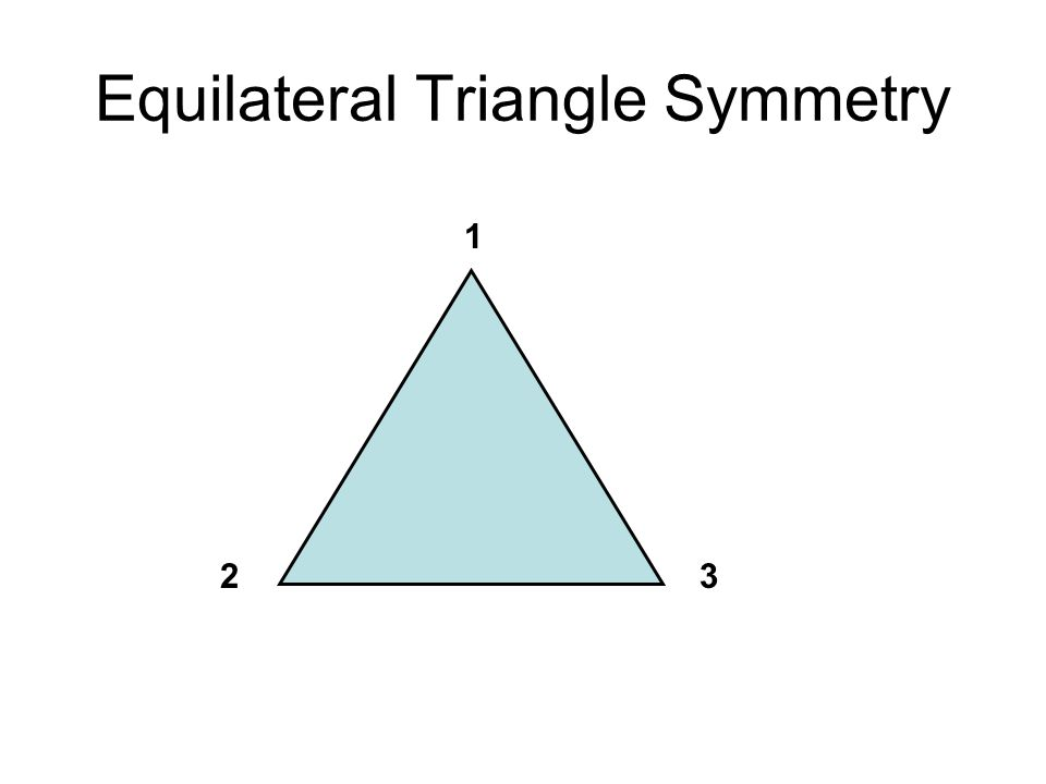 Equilateral Triangle Symmetry
