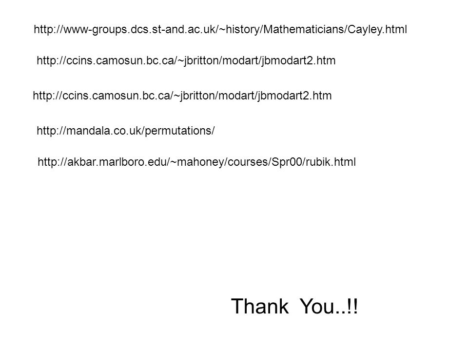 http://www-groups. dcs. st-and. ac. uk/~history/Mathematicians/Cayley