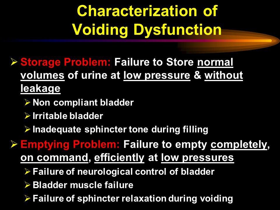 Characterization of Voiding Dysfunction