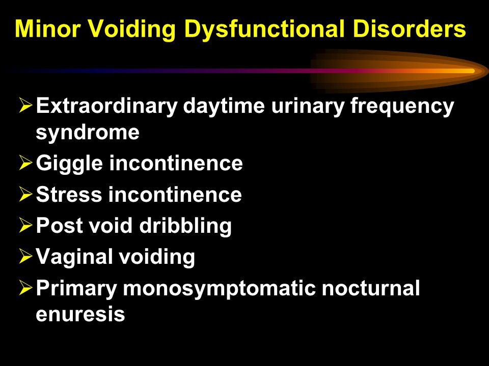 Minor Voiding Dysfunctional Disorders