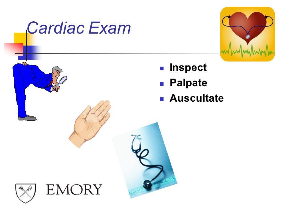 Cardiac Exam Inspect Palpate Auscultate