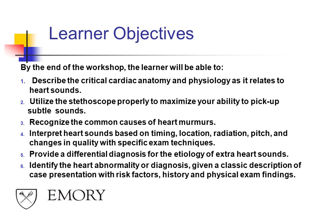 Learner Objectives By the end of the workshop, the learner will be able to: