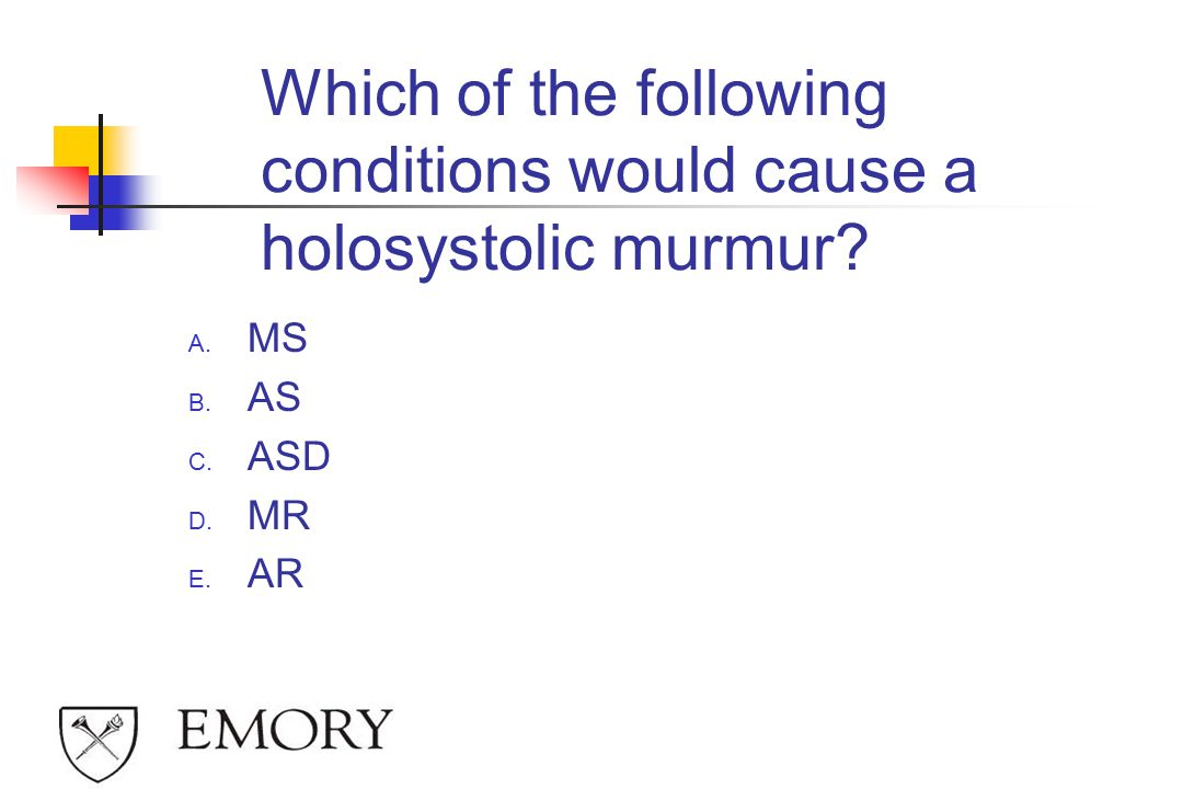 Which of the following conditions would cause a holosystolic murmur