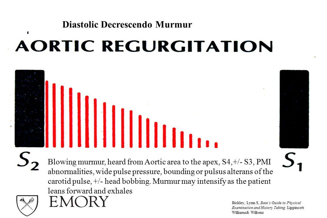 Diastolic Decrescendo Murmur