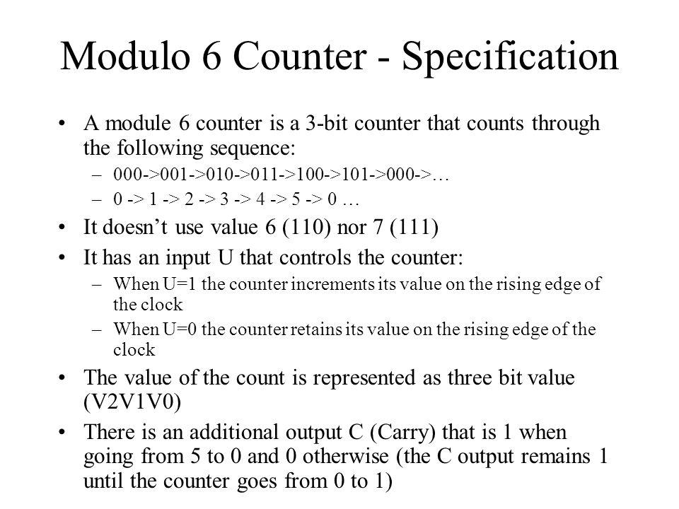 Modulo 6 Counter - Specification