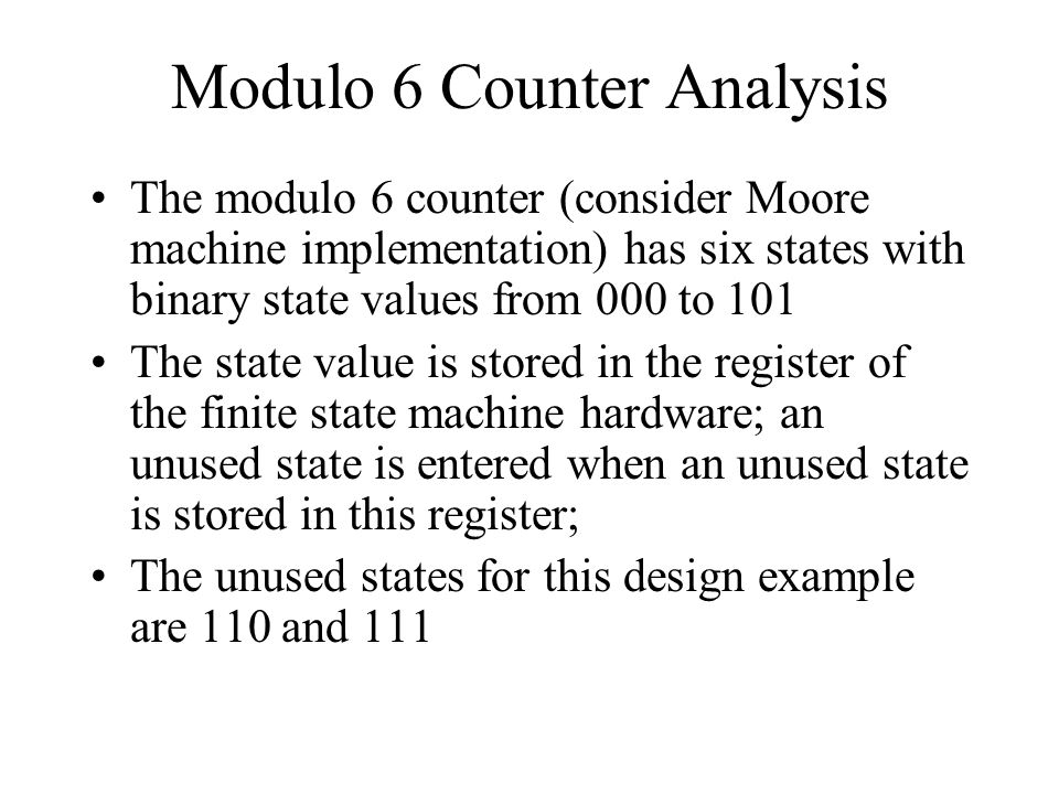 Modulo 6 Counter Analysis