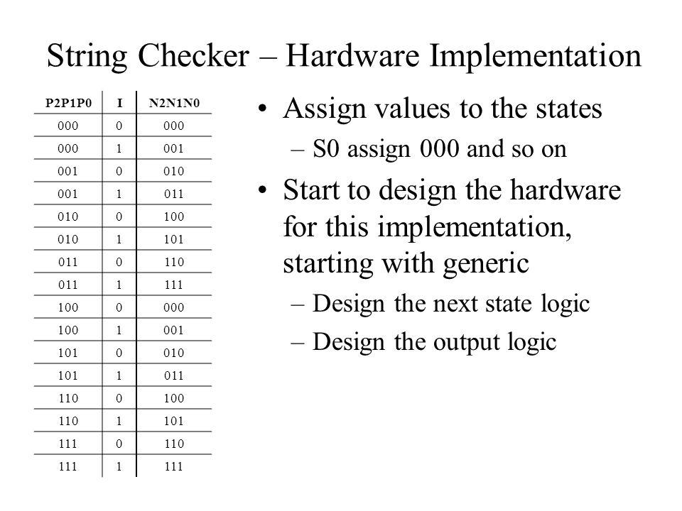 String Checker – Hardware Implementation