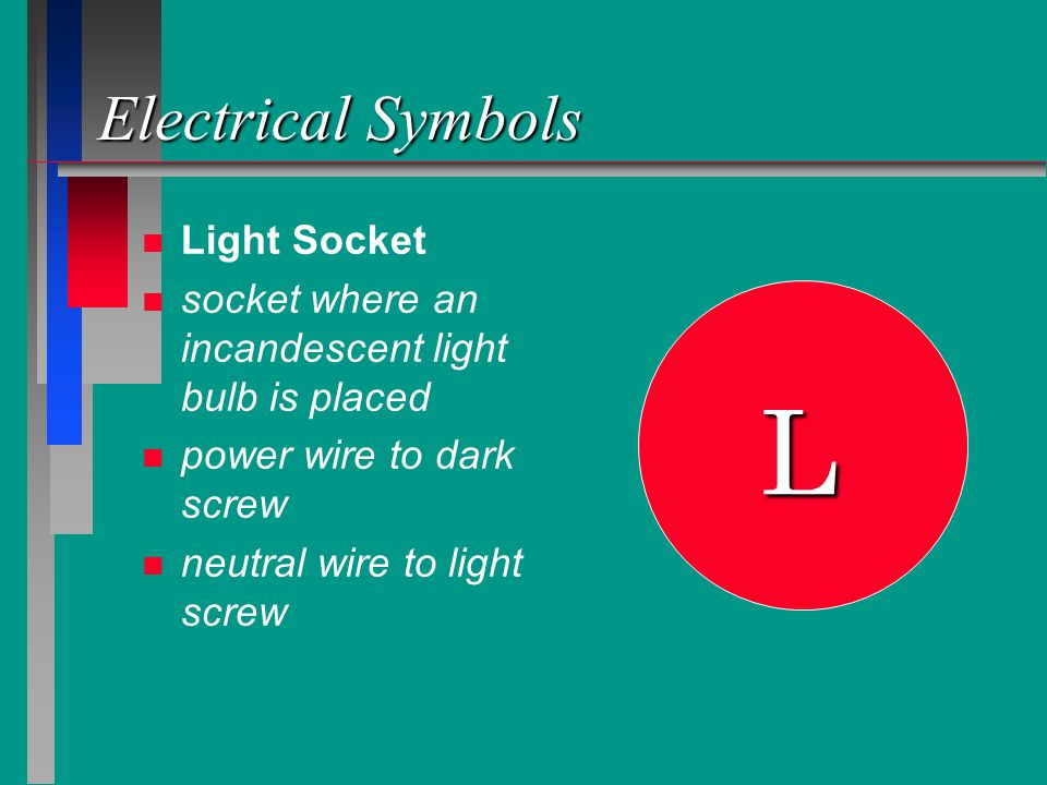 L Electrical Symbols Light Socket