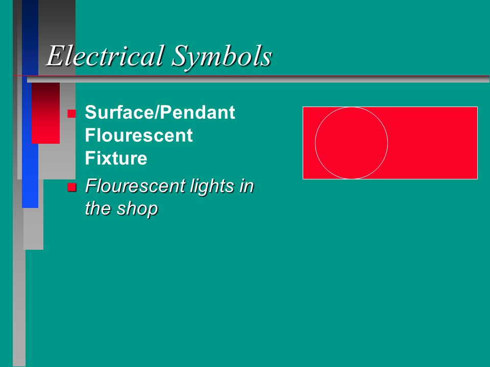 Electrical Symbols Surface/Pendant Flourescent Fixture