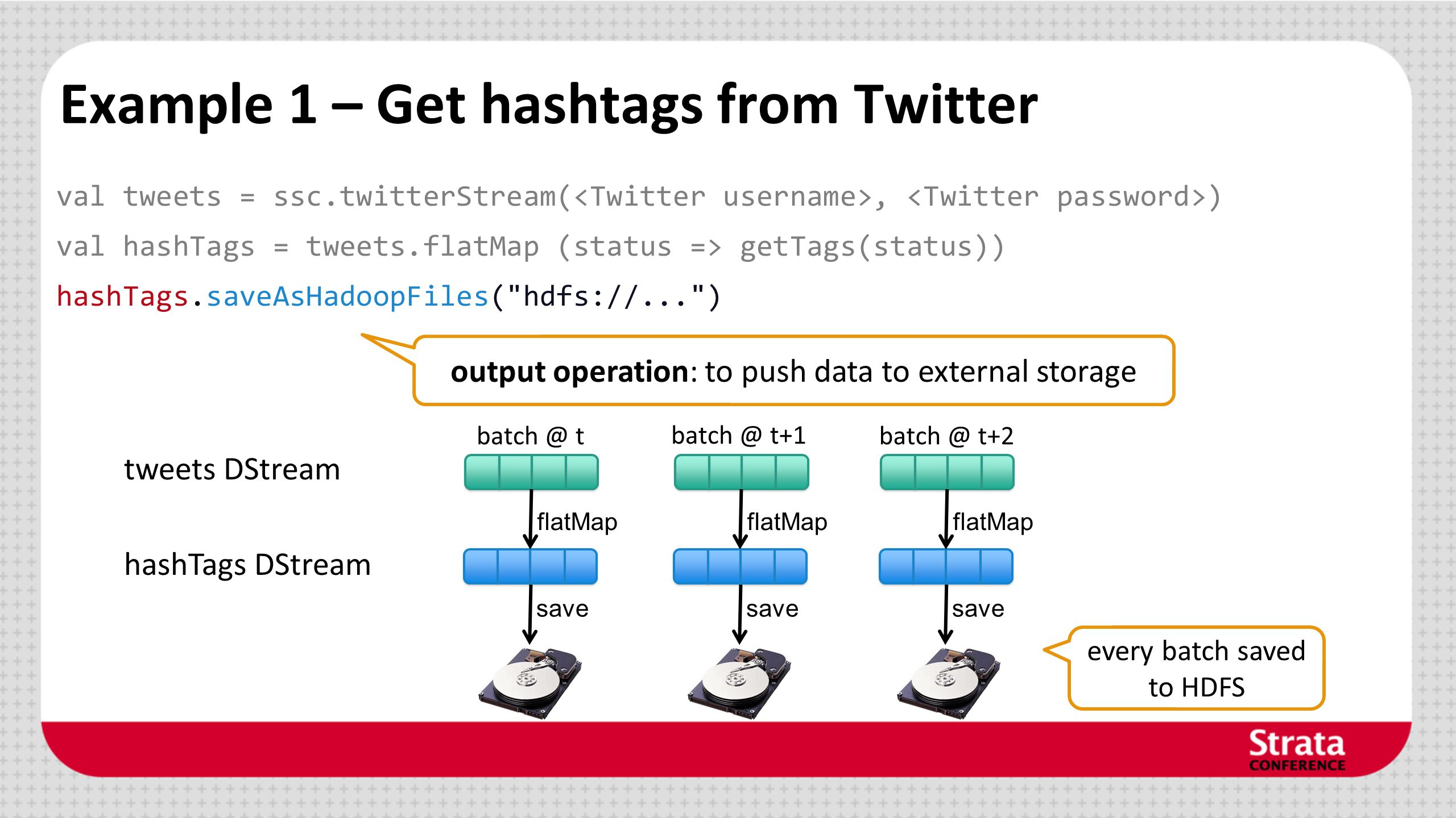 Example 1 – Get hashtags from Twitter