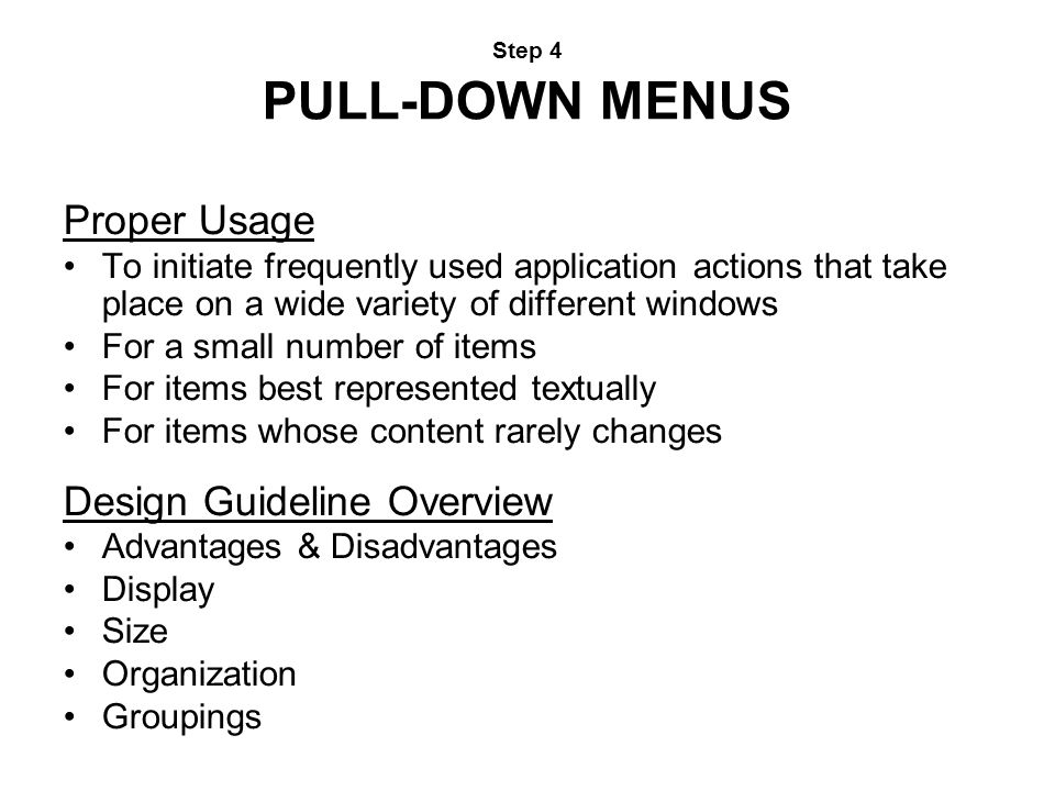 Design Guideline Overview