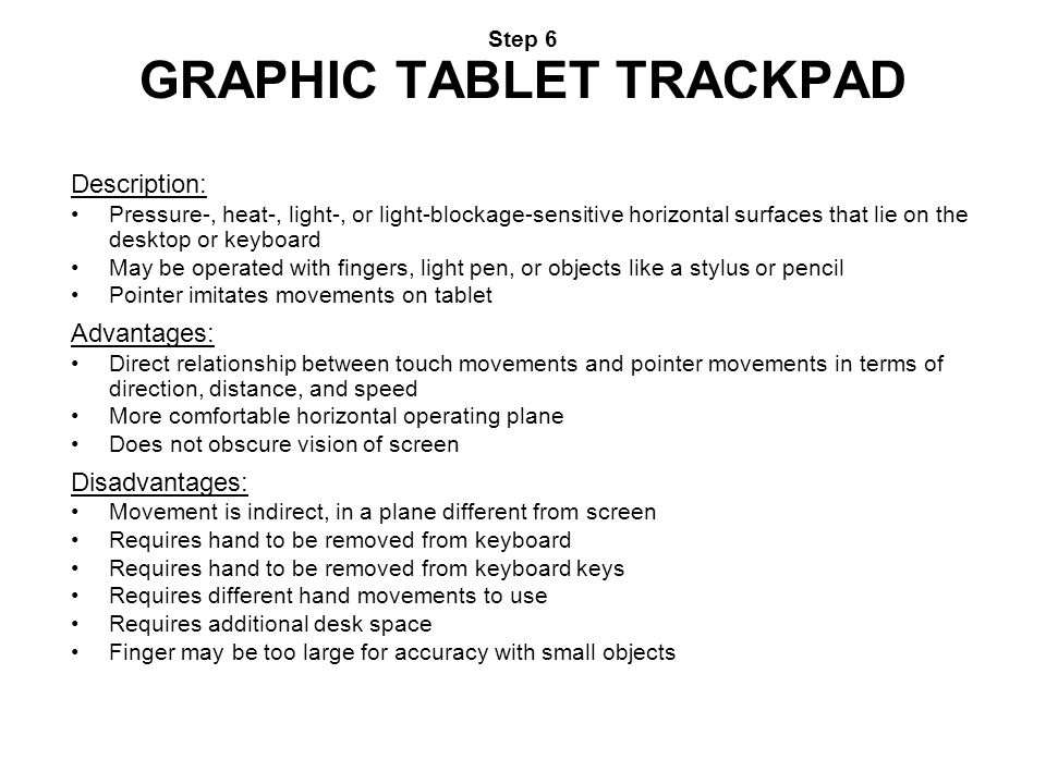 Step 6 GRAPHIC TABLET TRACKPAD