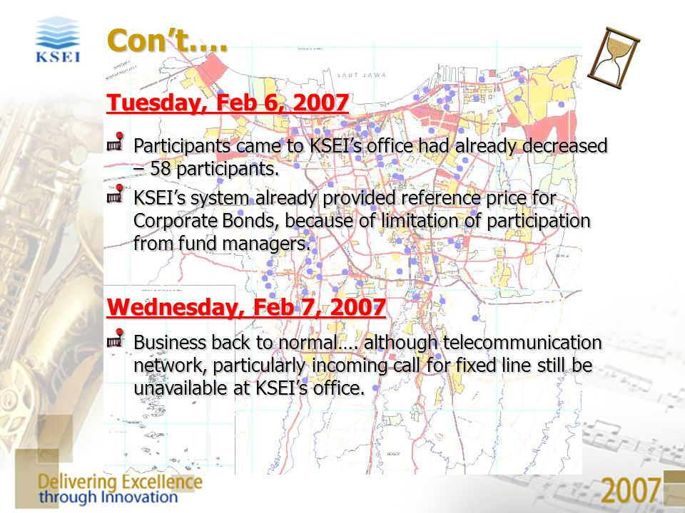 Con't…. Tuesday, Feb 6, 2007 Wednesday, Feb 7, 2007