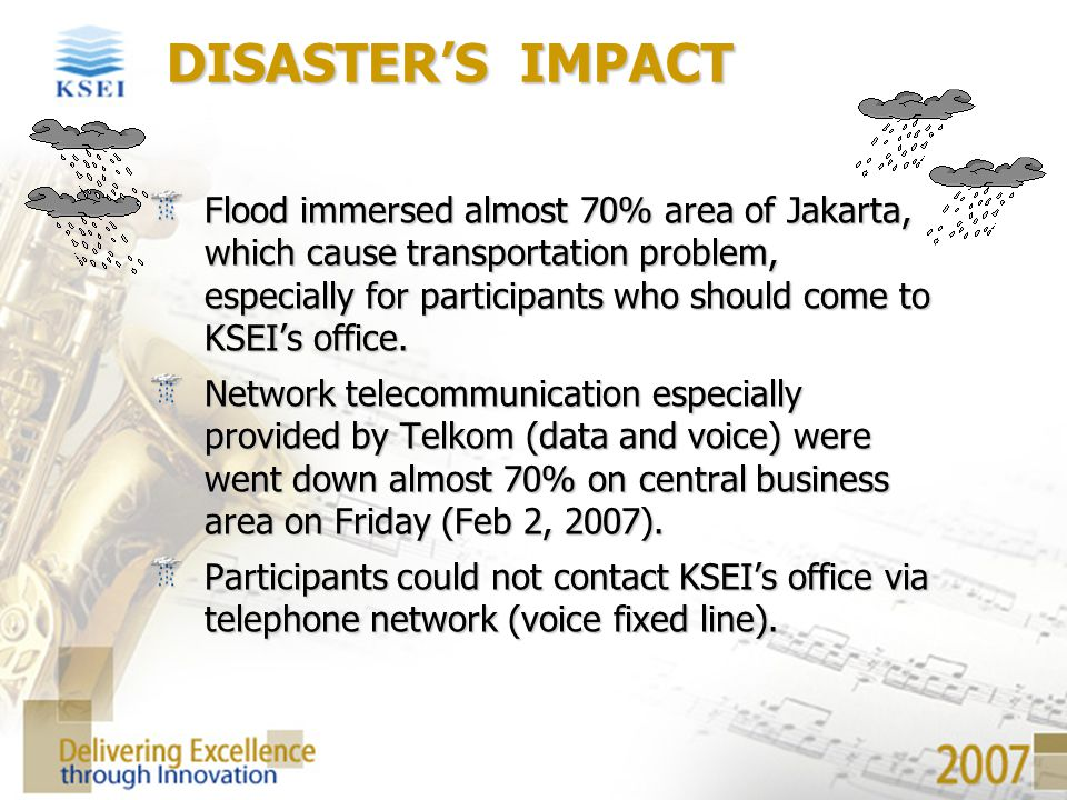 DISASTER'S IMPACT
