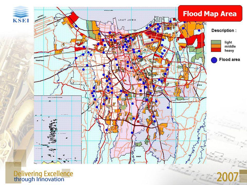 Flood Map Area Description : light middle heavy Flood area