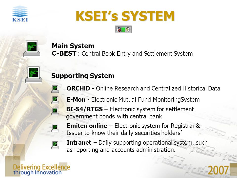 KSEI's SYSTEM Main System