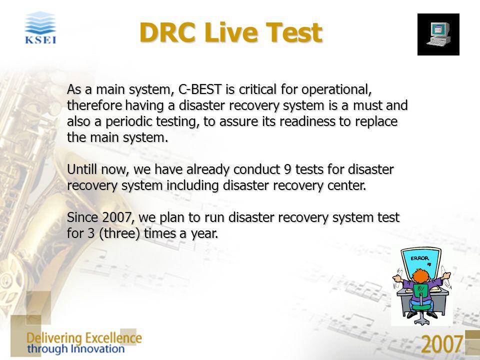 DRC Live Test