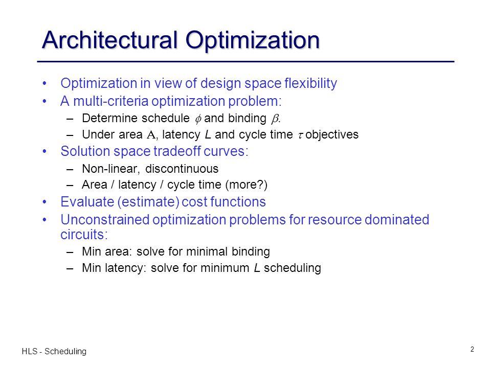 Architectural Optimization