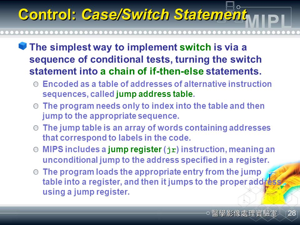 Control: Case/Switch Statement