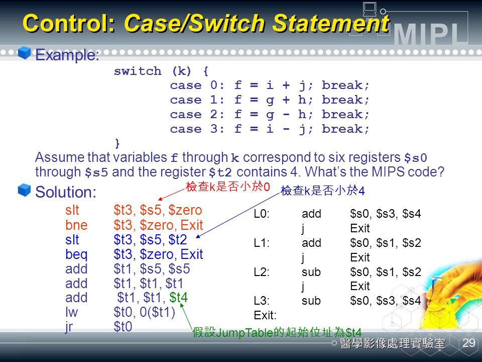 Control: Case/Switch Statement