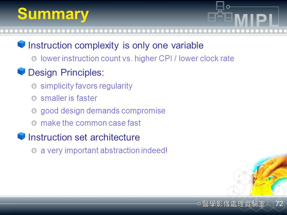 Summary Instruction complexity is only one variable Design Principles: