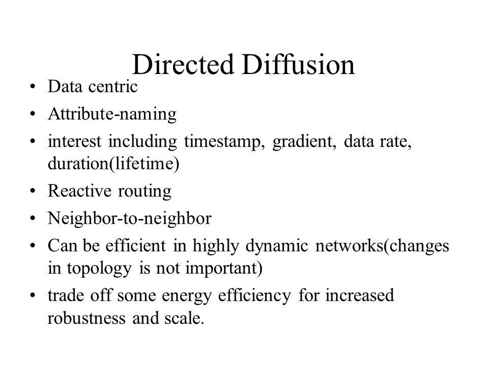 Directed Diffusion Data centric Attribute-naming
