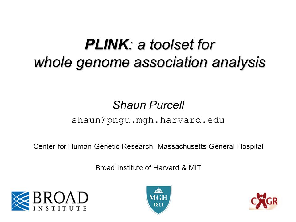 PLINK: a toolset for whole genome association analysis