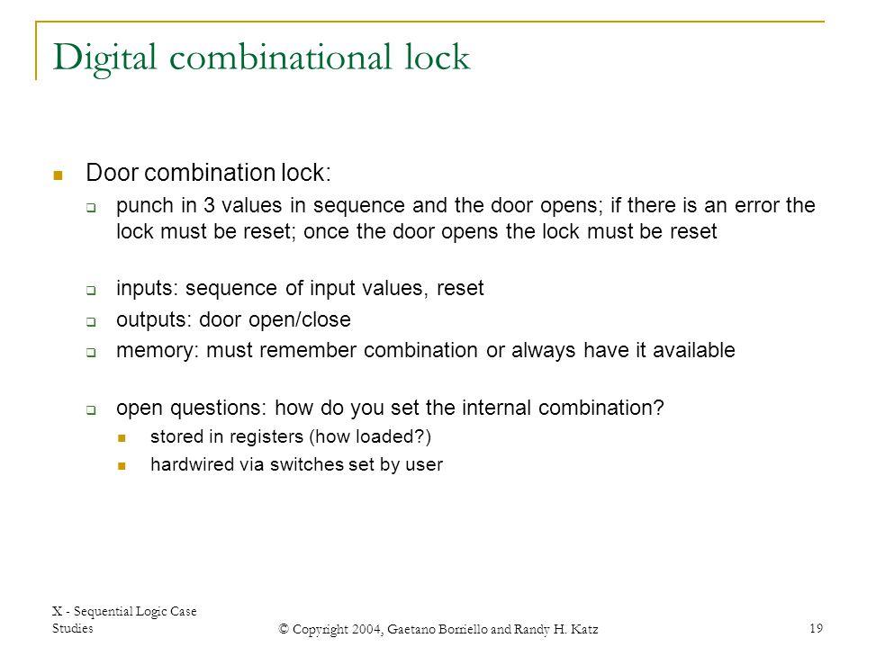 Digital combinational lock