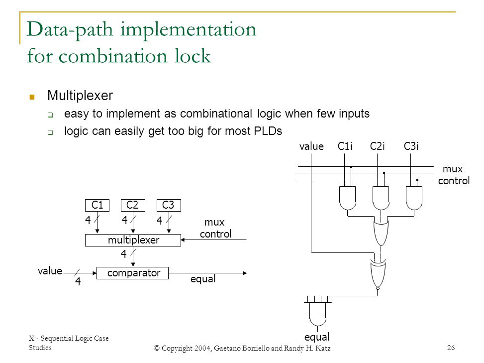 Data-path implementation for combination lock