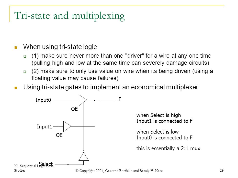 Tri-state and multiplexing