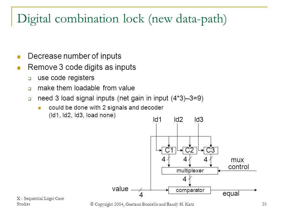 Digital combination lock (new data-path)