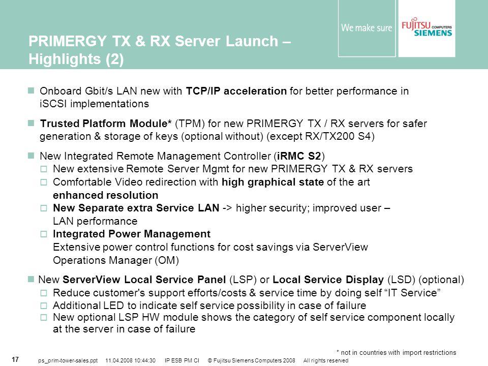 PRIMERGY TX & RX Server Launch – Highlights (2)