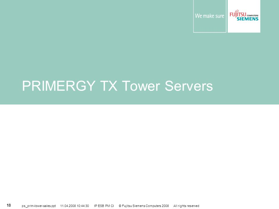 PRIMERGY TX Tower Servers