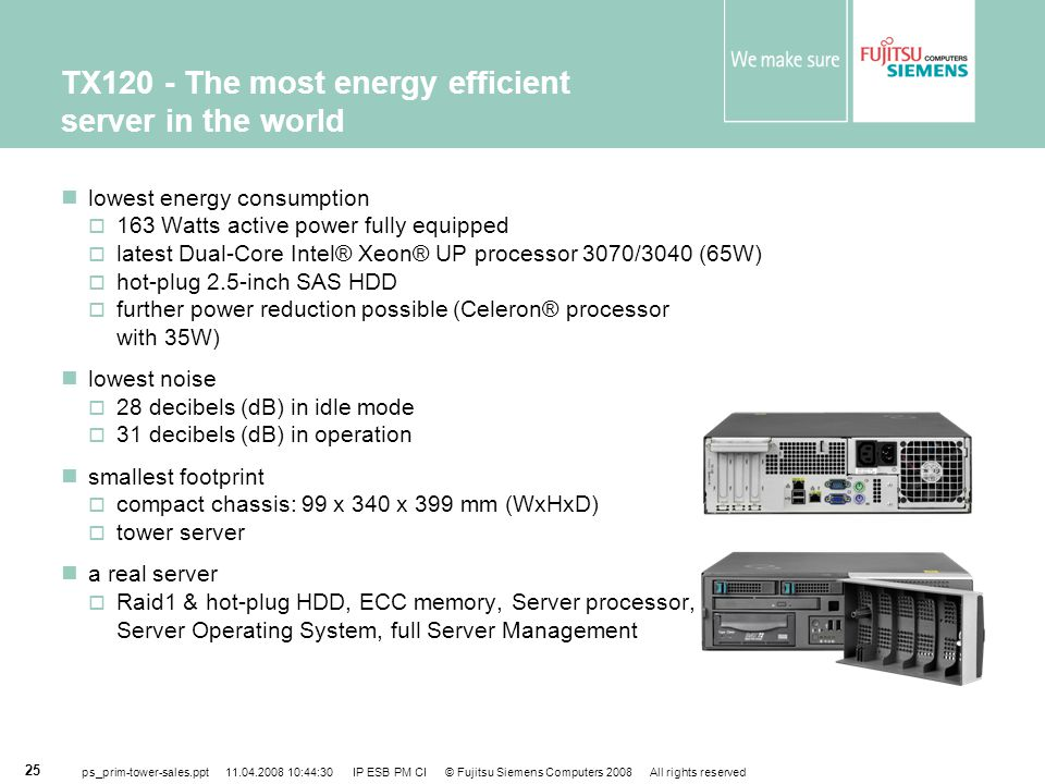 TX120 - The most energy efficient server in the world