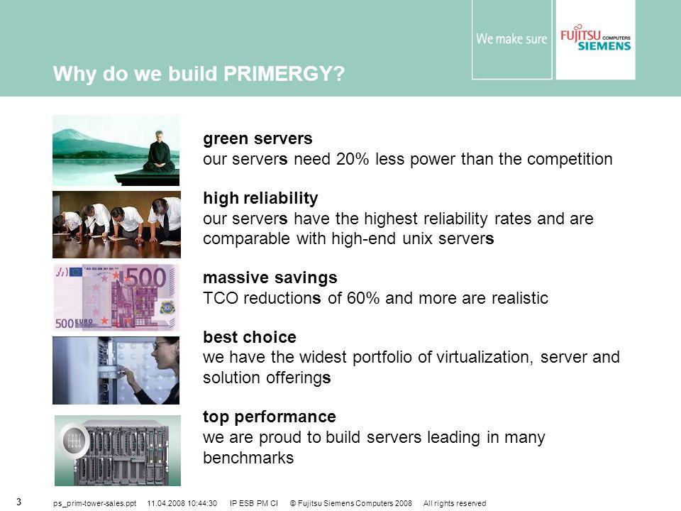 Why do we build PRIMERGY
