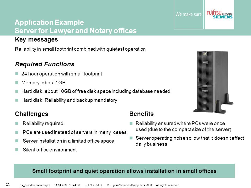 Application Example Server for Lawyer and Notary offices