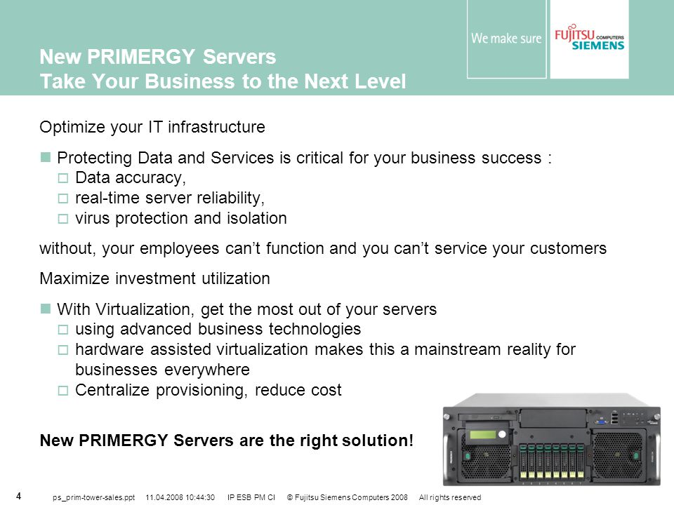New PRIMERGY Servers Take Your Business to the Next Level