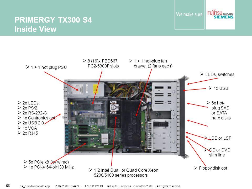 PRIMERGY TX300 S4 Inside View