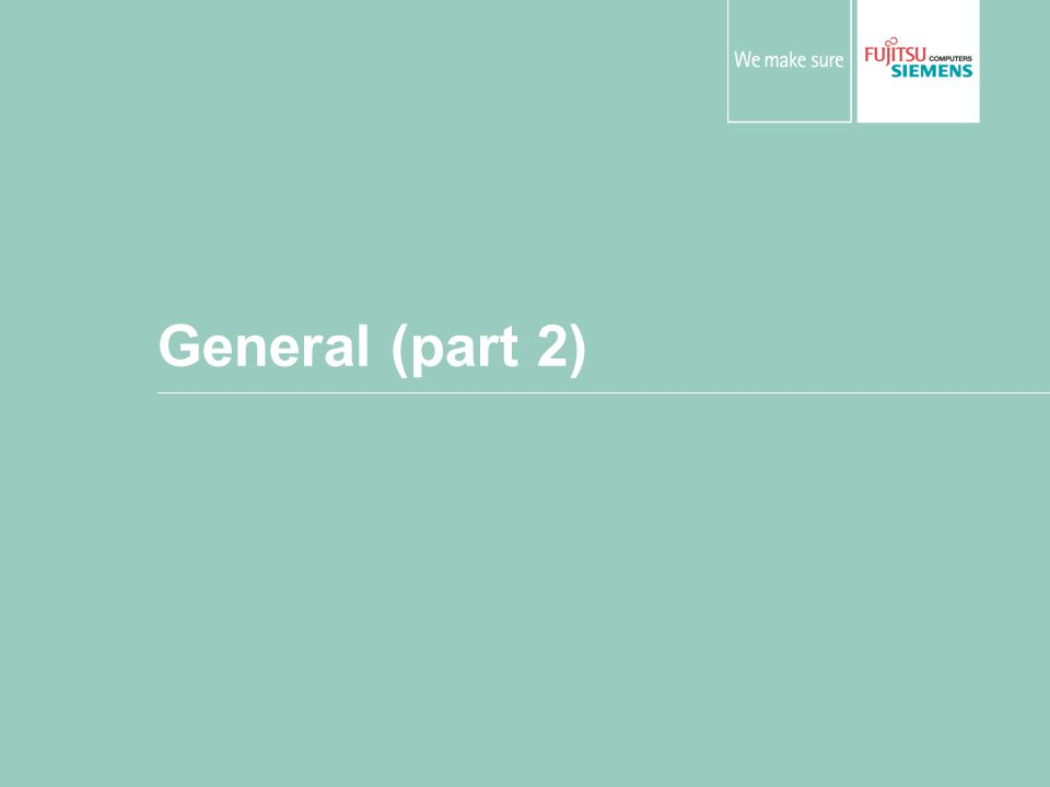 General (part 2)